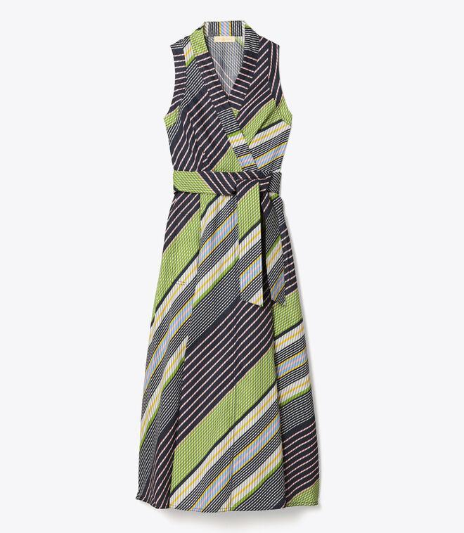 Overprinted Wrap Dress
