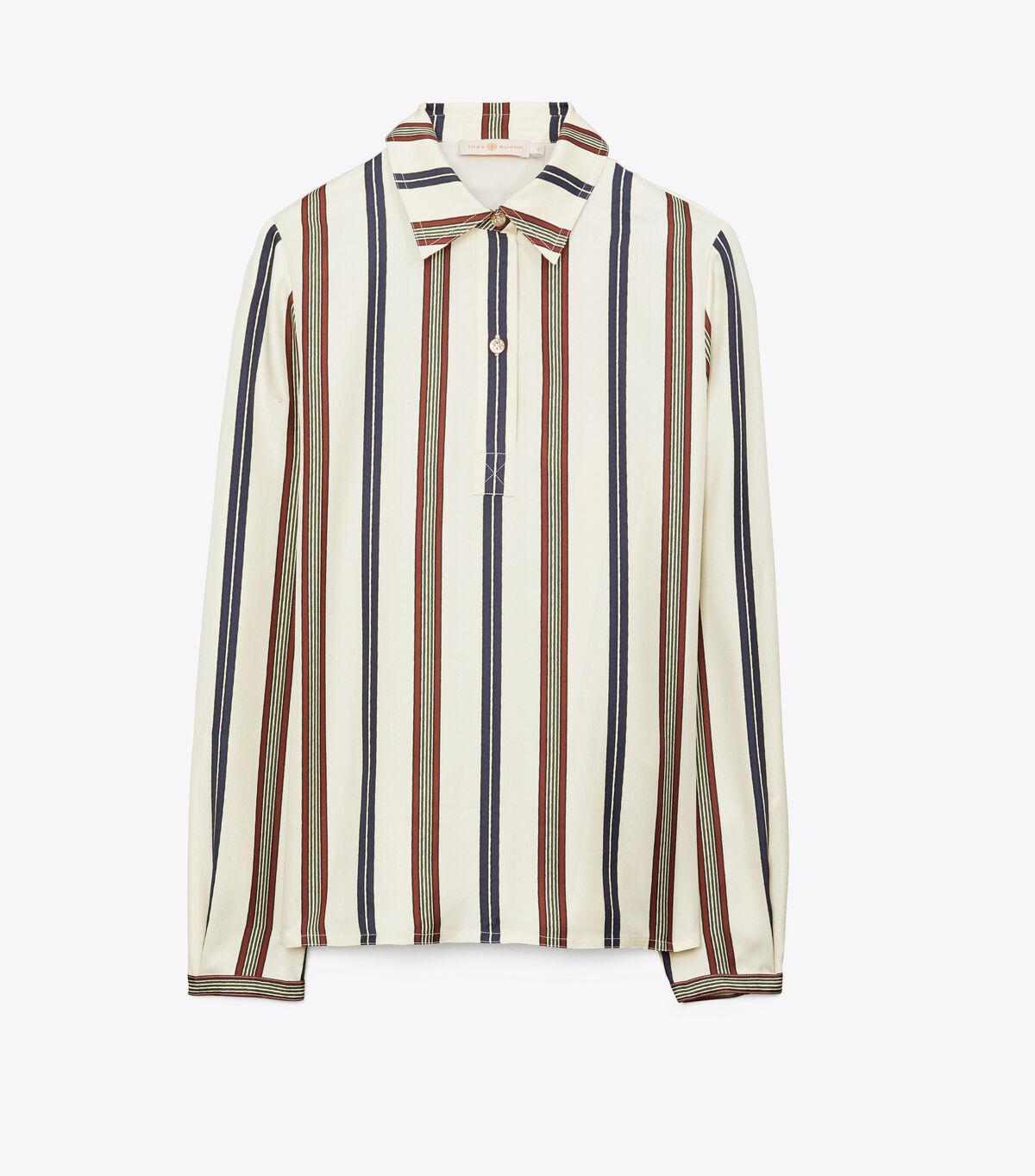 Striped Silk Shirt