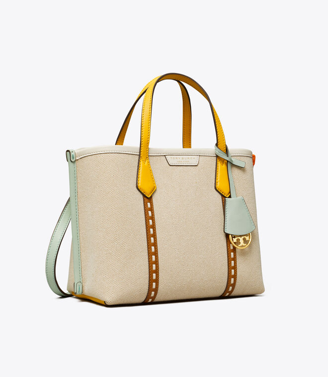 PERRY CANVAS SMALL TRIPLE-COMPARTMENT TOTE