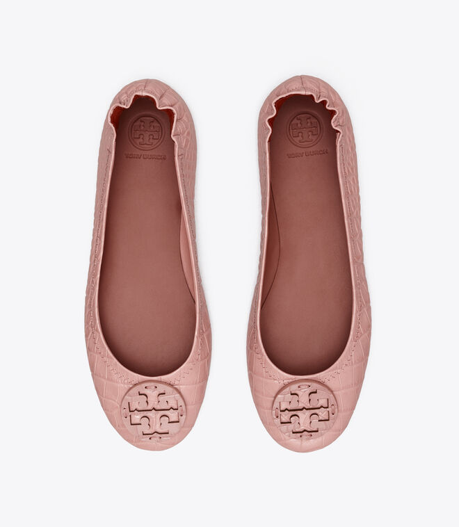 MINNIE TRAVEL BALLET WITH LEATHER LOGO