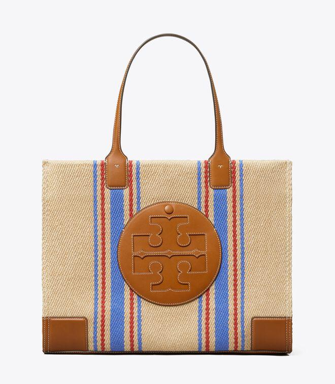 Ella Linen Stripe Tote Bag