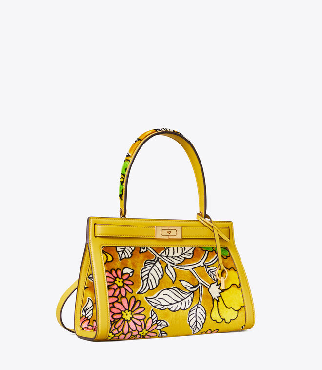 LEE RADZIWILL PRINTED VELVET SMALL BAG