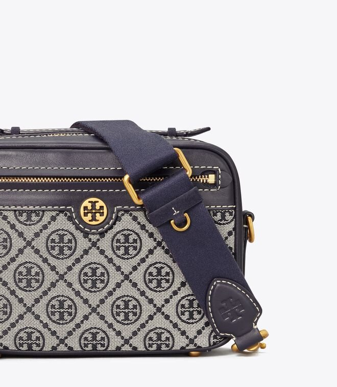 T MONOGRAM JACQUARD CAMERA BAG