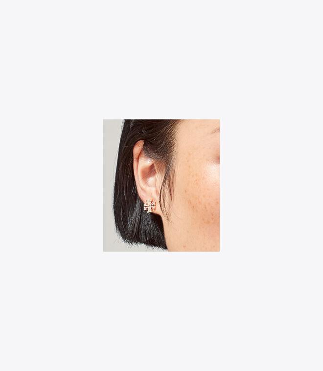 CRYSTAL LOGO STUD EARRING | 696 | Earrings