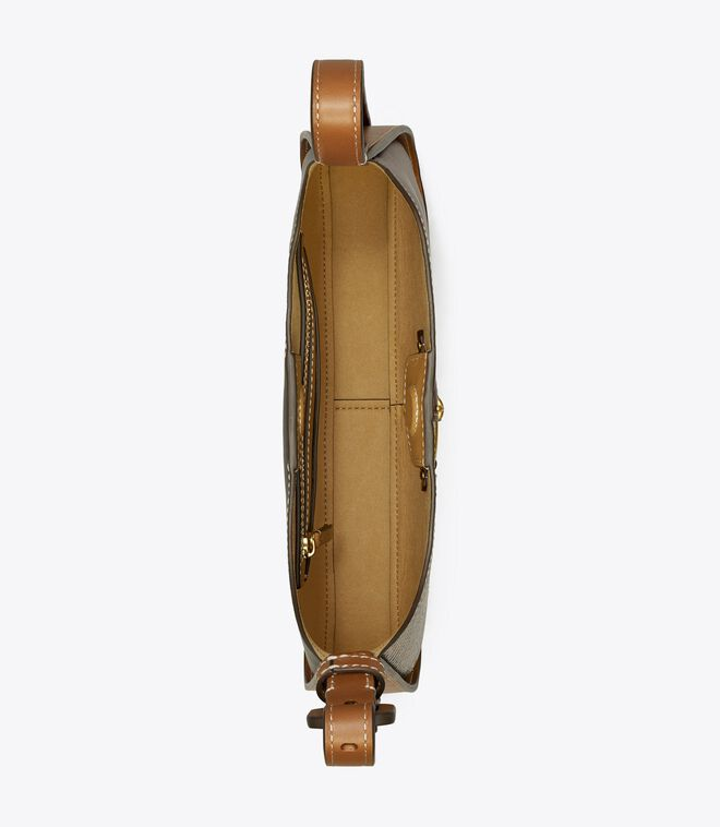 Miller Mixed-Materials Small Classic Shoulder Bag