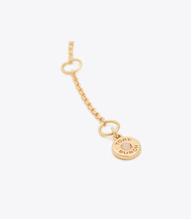 CRYSTAL PEARL LOGO BRACELET   749   Bracelets