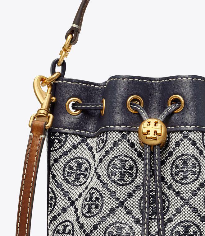T Monogram Jacquard Mini Bucket Bag