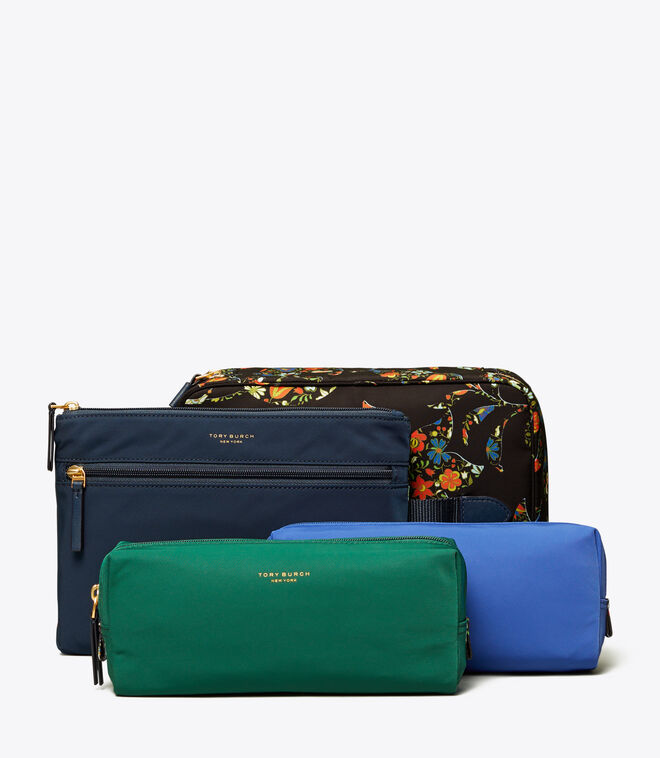 PERRY NYLON PRINTED COSMETIC SET   963   Cosmetic Cases