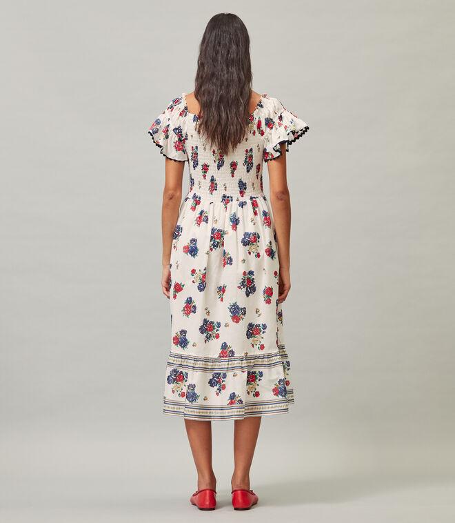 PRINTED SMOCKED DRESS   967   Coverup Dresses