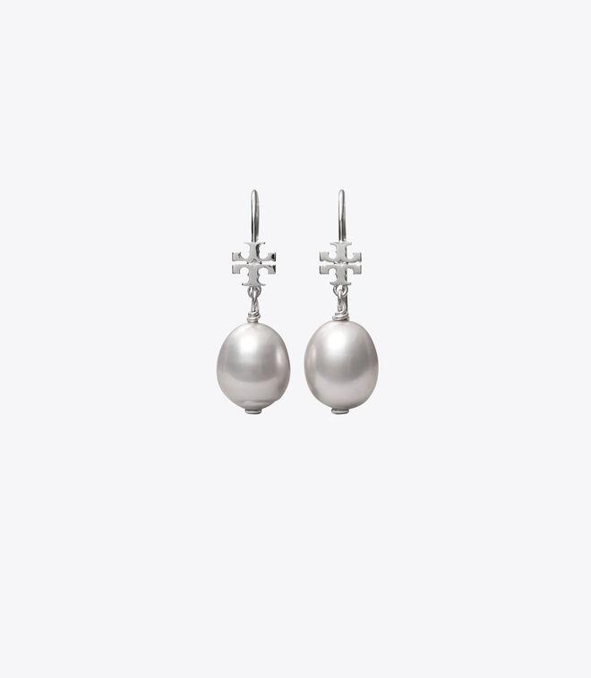 LOGO PEARL DROP EARRING   022   Drop Earring