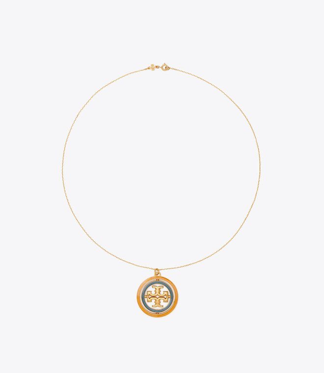 Miller Guilloche Pendant Necklace