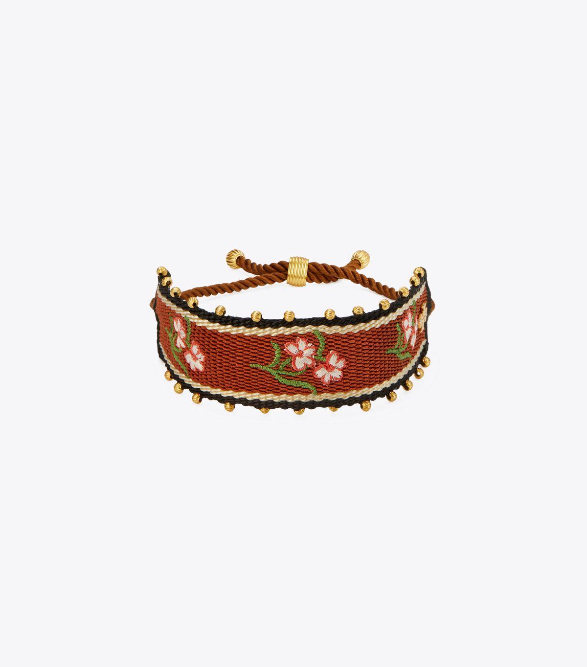 Floral Webbing Bracelet