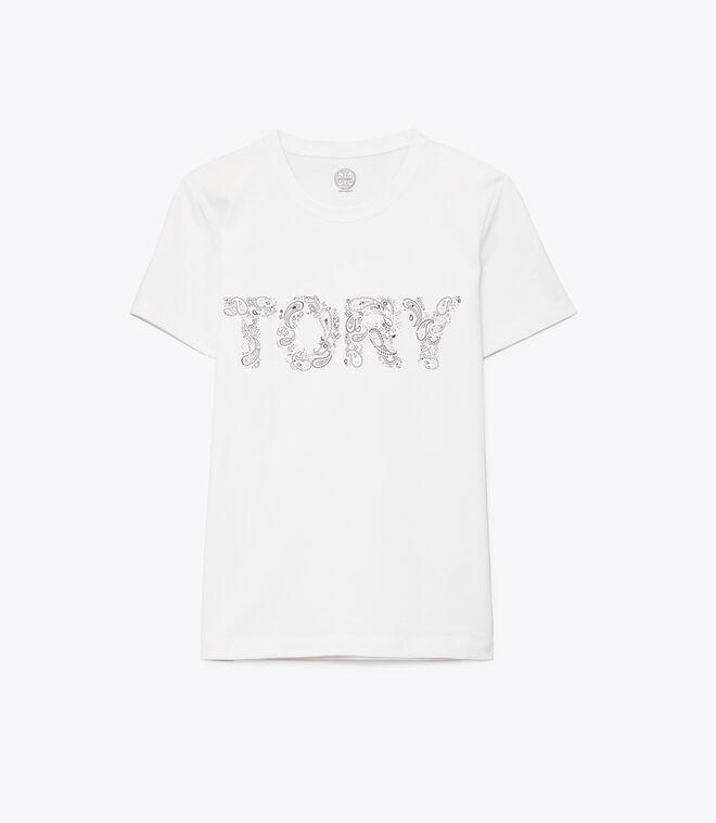 Tory Paisley Embellished T-Shirt