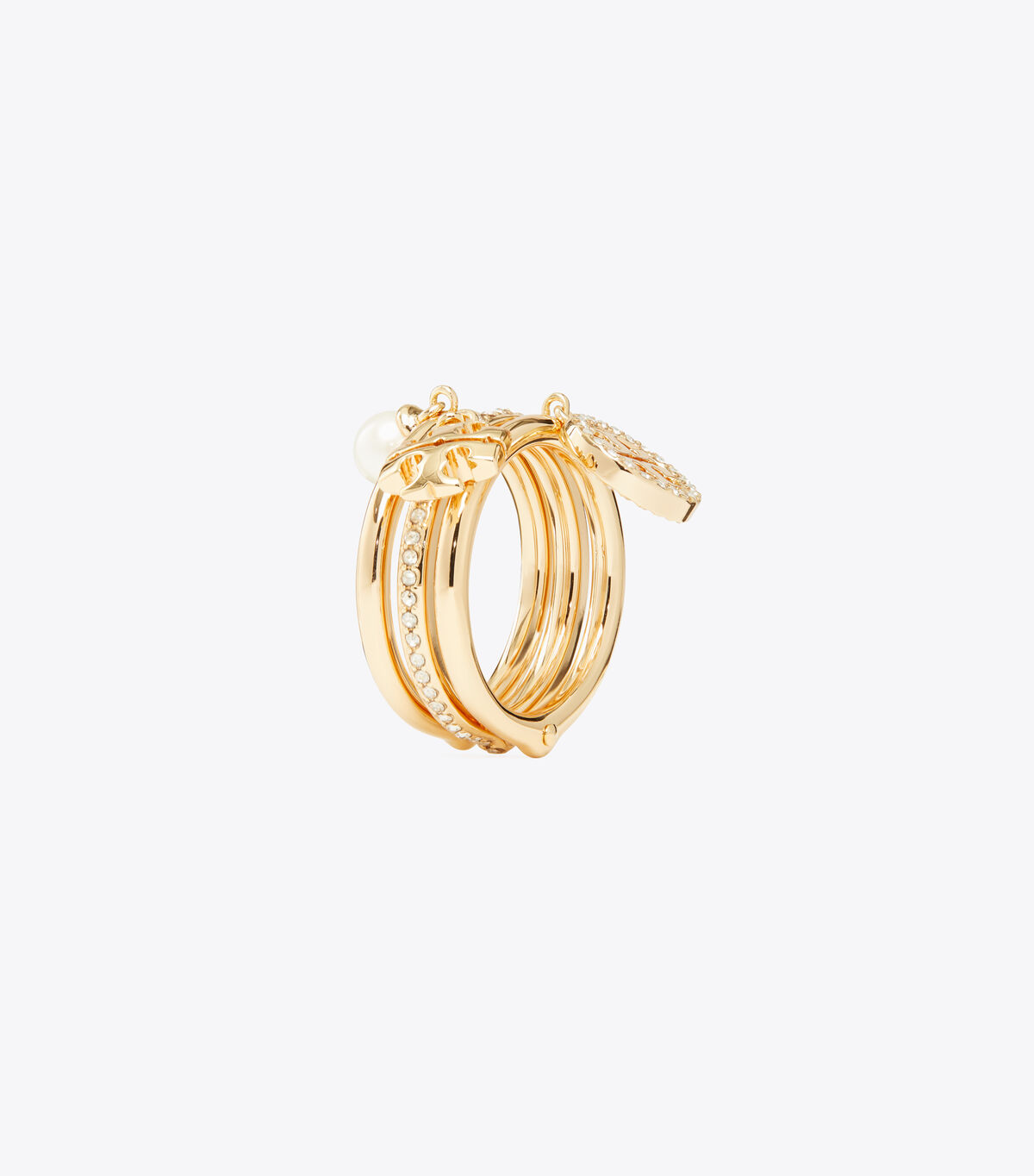 MILLER PAVE CHARM RING