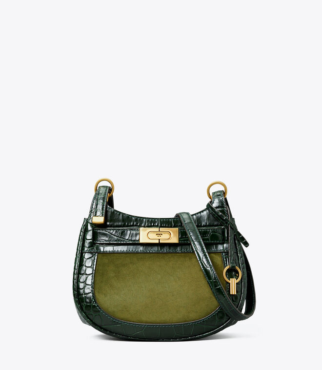 LEE RADZIWILL EMBOSSED FRAME SMALL SADDLEBAG