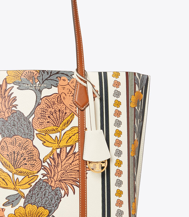 Perry Printed Triple-Compartment Tote