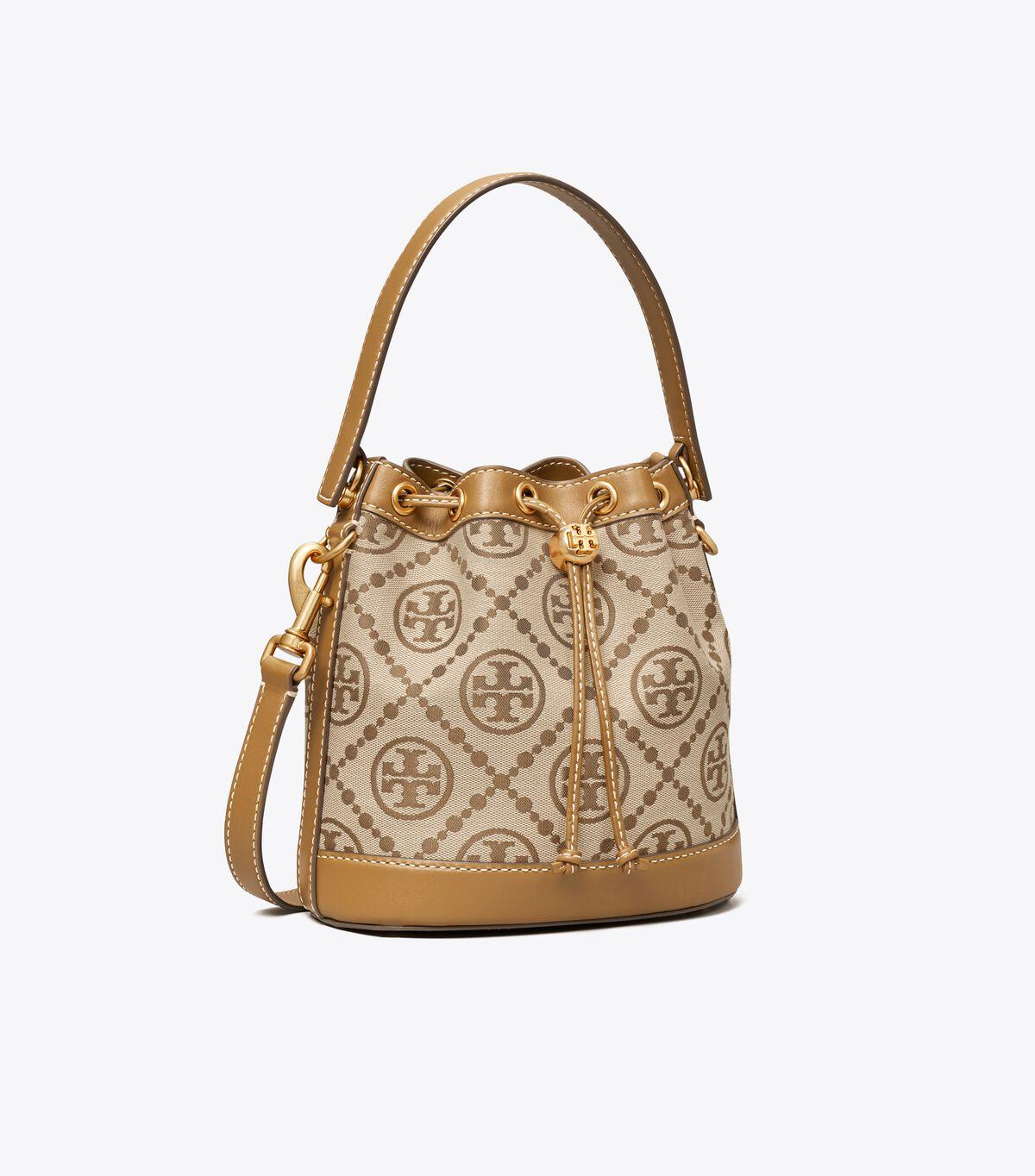 T Monogram Jacquard Bucket Bag