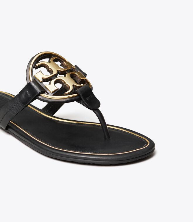 Miller Metal-Logo Sandal, Leather