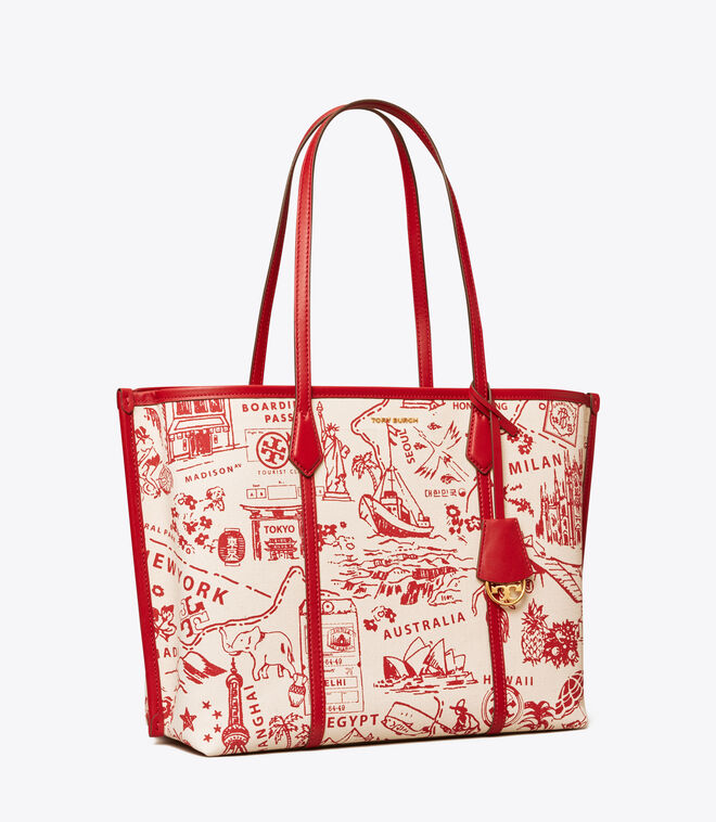 PERRY PRINTED CANVAS TRIPLE-COMPARTMENT TOTE | 920 | Totes