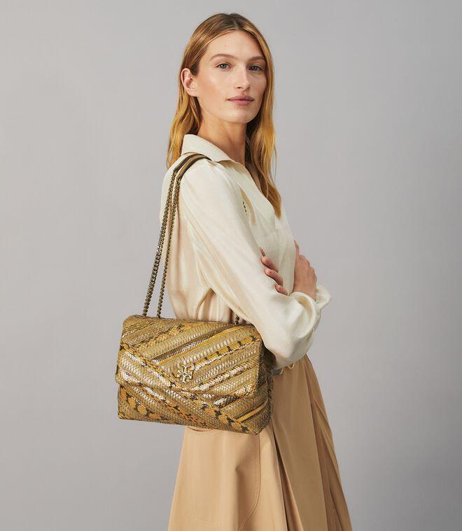 Kira Chevron Exotic Convertible Shoulder Bag