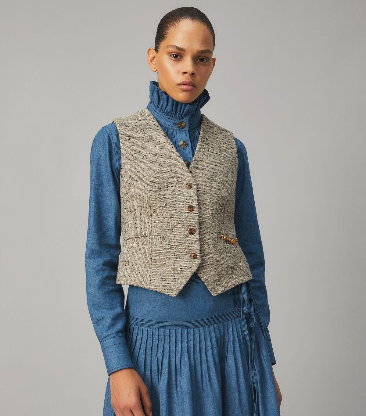 Linen Wool Vest