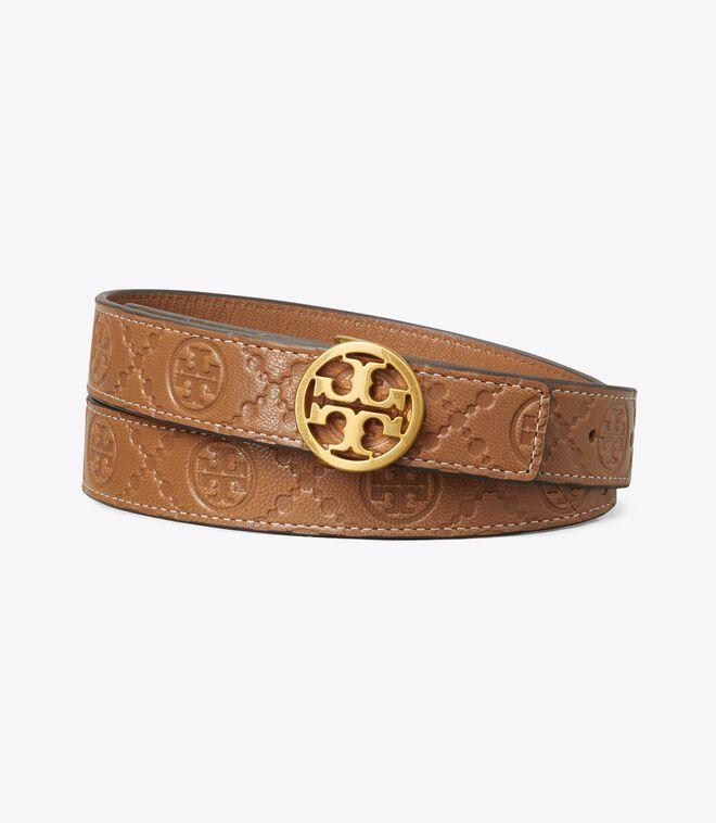 T Monogram Leather Belt