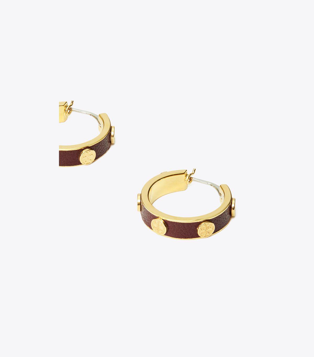 Miller Stud Leather Hoop Earring