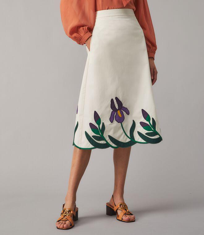 Iris Embroidered Skirt