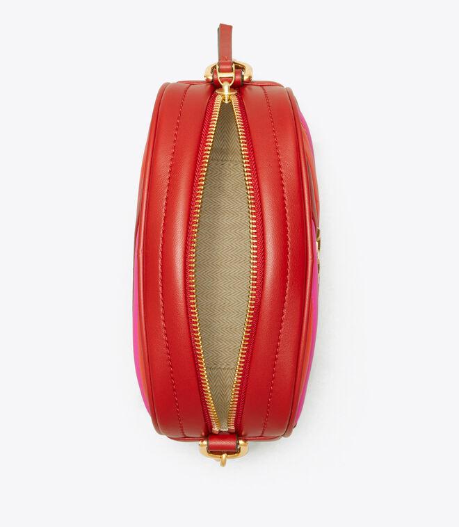 KIRA CHEVRON COLOR-BLOCK SMALL CAMERA BAG | 620 | Crossbody Bags