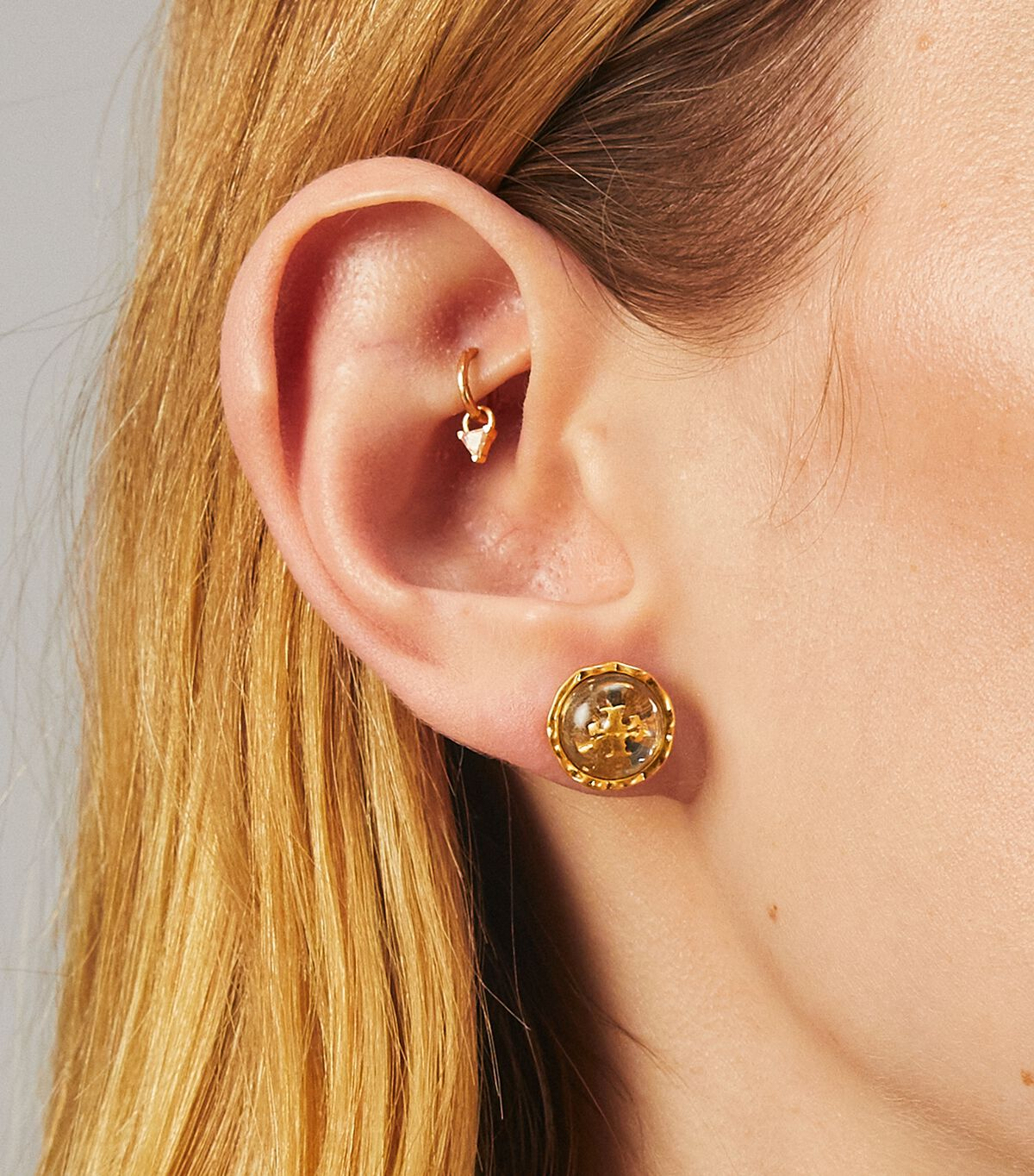 Roxanne Circle-Stud Earring