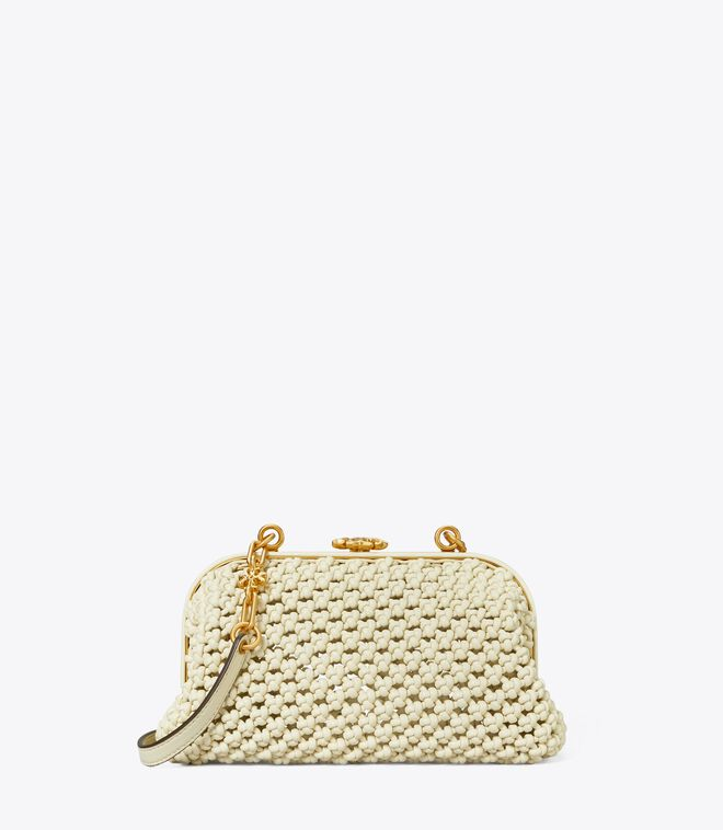 Cleo Macramé Woven Mini Bag