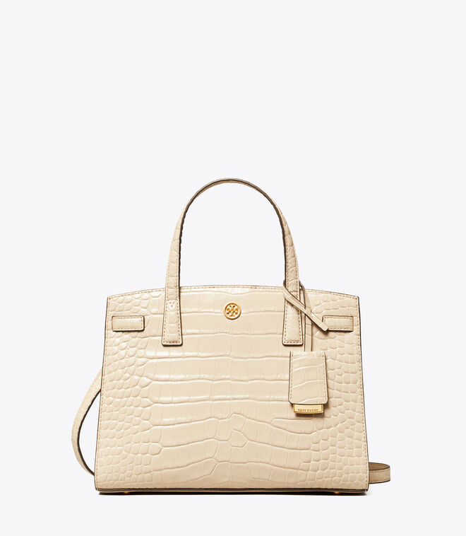 WALKER EMBOSSED SMALL SATCHEL