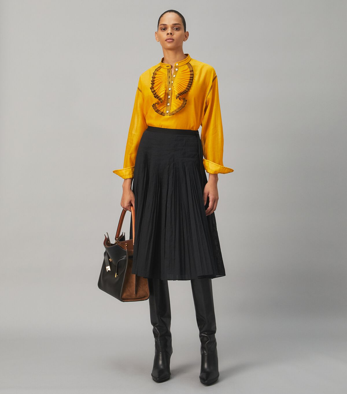 Ruffle-Front Blouse