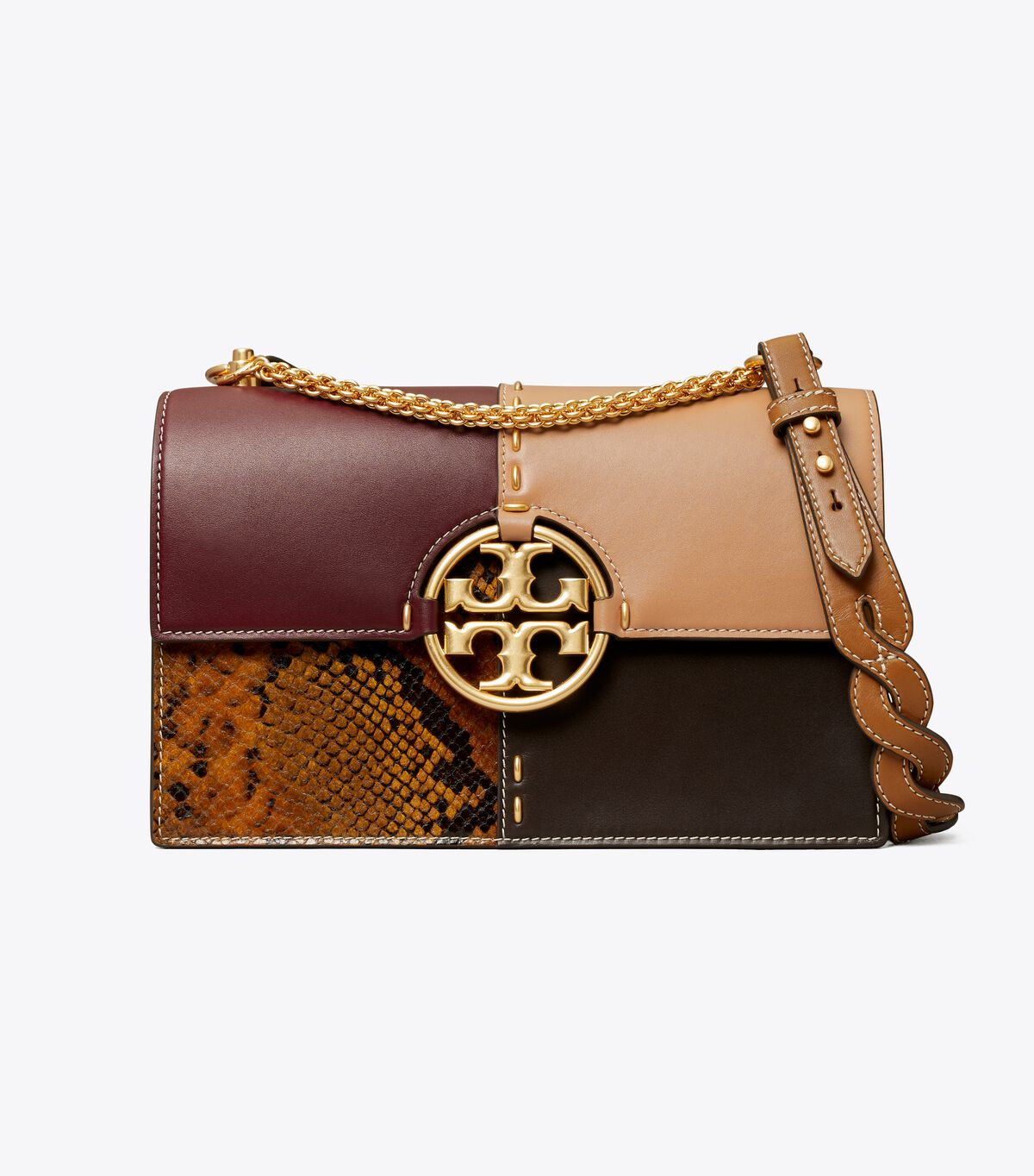 Miller Mixed-Materials Shoulder Bag
