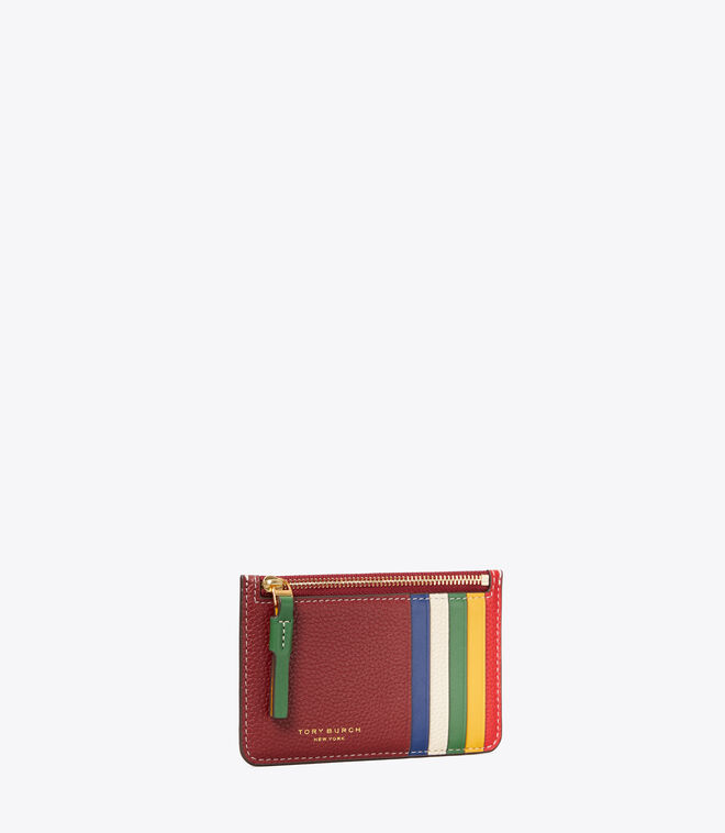 Perry Color-Block Top-Zip Card Case