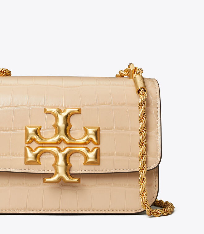 ELEANOR EMBOSSED SMALL CONVERTIBLE SHOULDER BAG