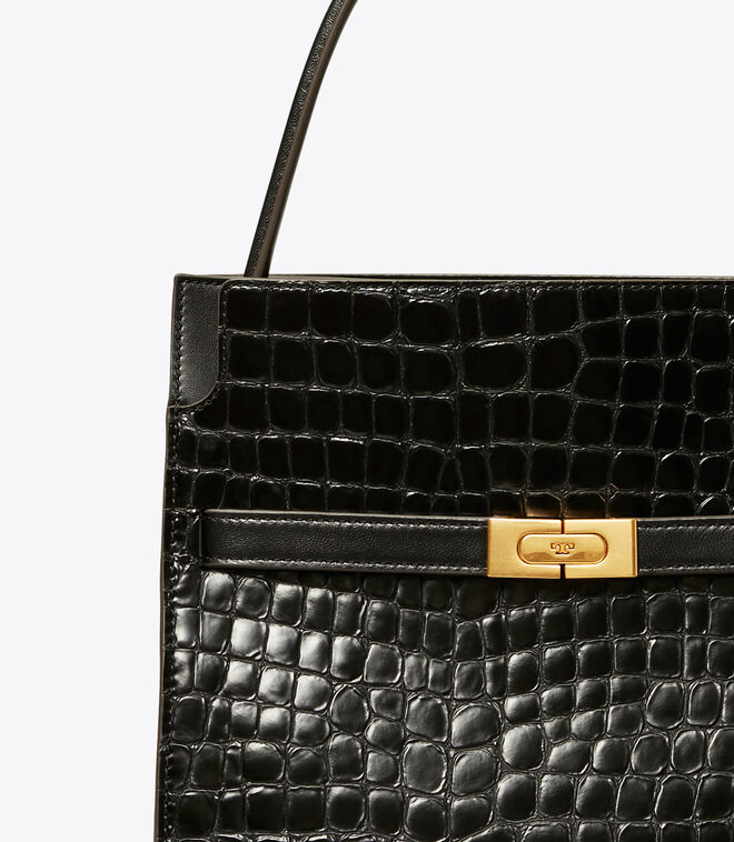 LEE RADZIWILL EMBOSSED SMALL DOUBLE BAG | 001 | Satchels