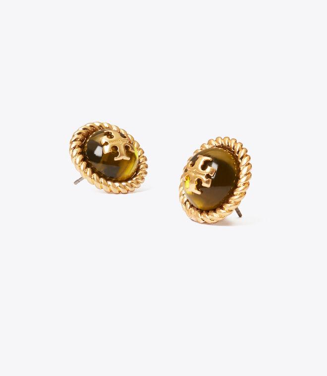 Kira Glass Stud Earring