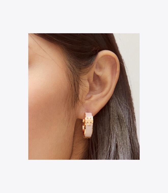 KIRA ENAMEL HUGGIE EARRING   720   Hoop Earring