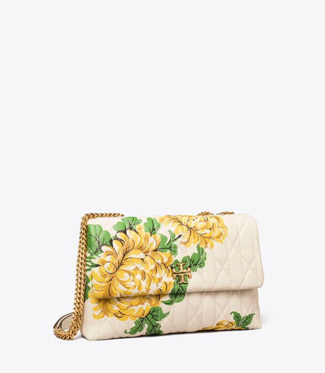 Kira Chevron Floral Convertible Shoulder Bag