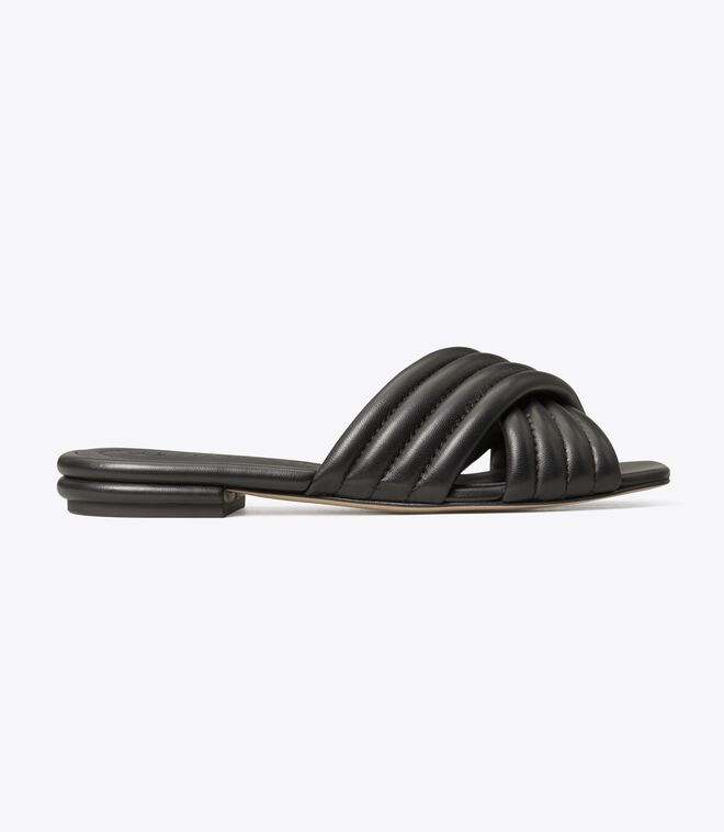 KIRA QUILTED FLAT SLIDE
