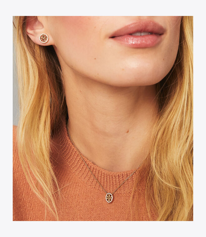 MILLER PAVE PENDANT AND STUD EARRING SET